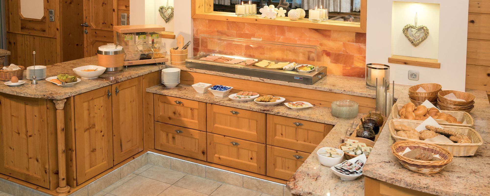 Lavish breakfast at Landhaus Platzer
