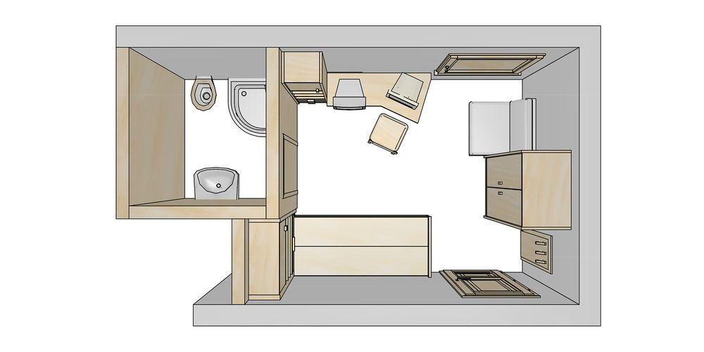 Floor plan for the single room - Landhaus Platzer