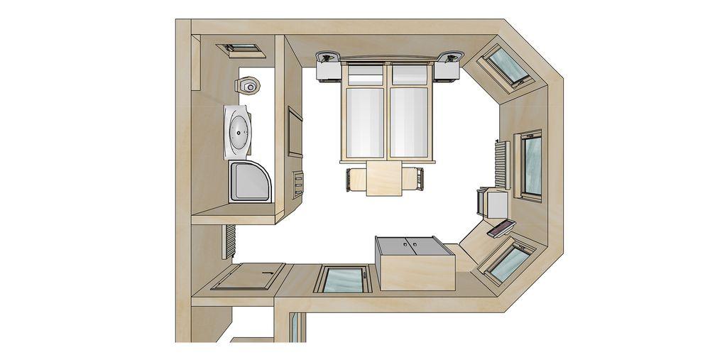 Grundriss Doppelzimmer Zirbe - Landhaus Platzer