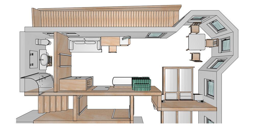 Floor plan for the romantic suite - Landhaus Platzer