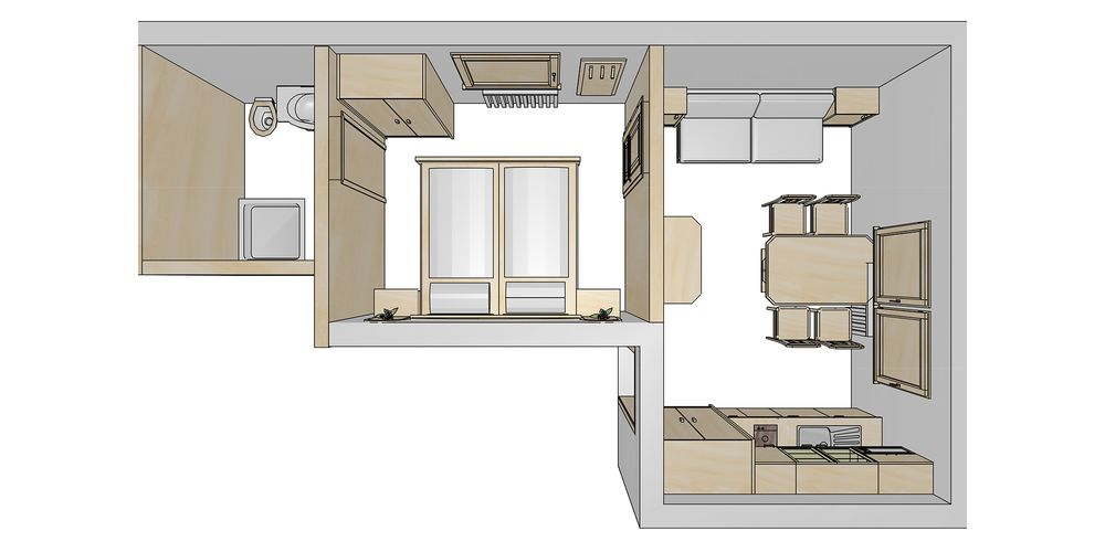 Floor plan for the family room - Landhaus Platzer